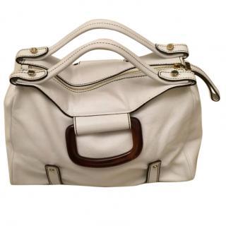 Etro white leather bag