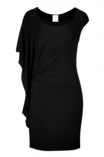 Ella Moss asymmetric flutter black dress