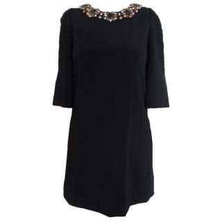 Dolce & Gabbana Black Dress with Crystals
