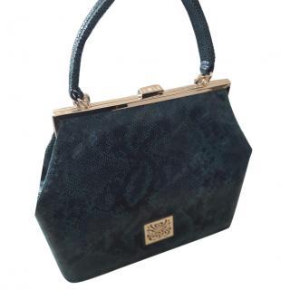 Biba forest green leather  snakeskin bag