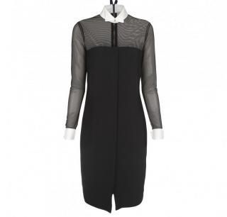 Brand New Paul Smith Mainline Black Satin Shirt Dress Size 16
