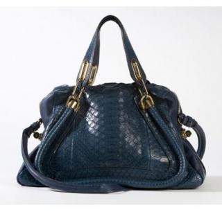 Chloe Paraty Blue Python Bag