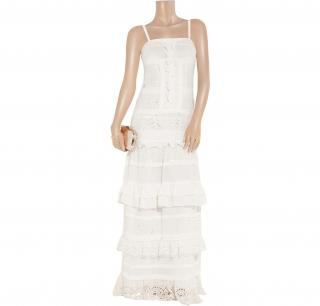 ALICE by TEMPERLEY - Long Cannes embroidered chiffon maxi dress