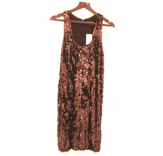 Vince Brown Sequin Dress