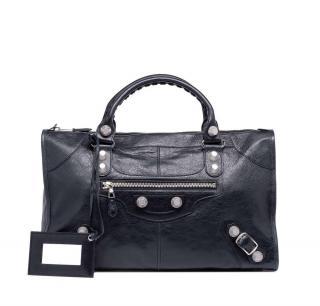 Balenciaga Giant 21 city silver black handbag