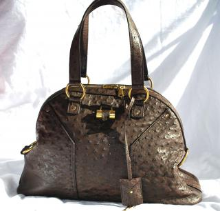 Ostrich Leather YSL SAC MUSE Bag - BRAND NEW
