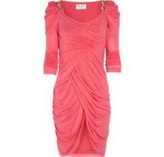 Alice by temperley pink knee length caprice dress
