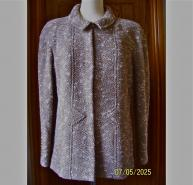 CHANEL BOUCLE WOOL TWEED CHAIN JACKET