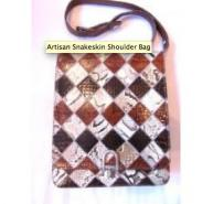 Artisan Snakeskin Shoulder Bag