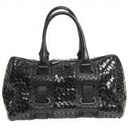 Bottega Veneta BV Nero patent Accordion bag bottega veneta designer