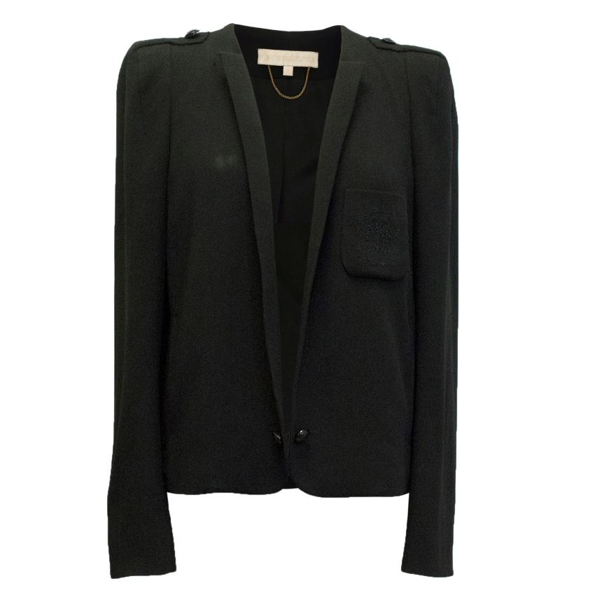 Vanessa Bruno Black Jacket with Double Button Fastening