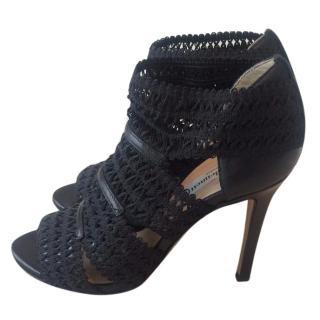 LK Bennett black leather shoe boots