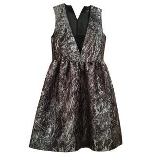 McQ by Alexander McQueen Black and White Silk Dress