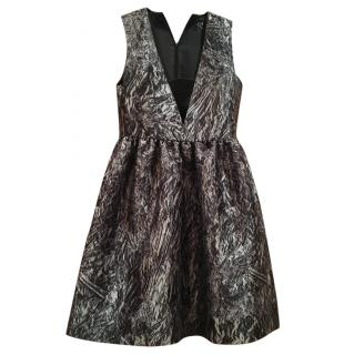 McQ by Alexander McQueen Black and White Silk Dress