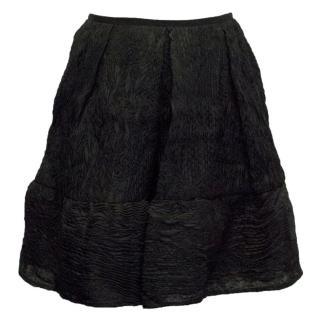 Erdem Levia Black Jacquard Skater Skirt