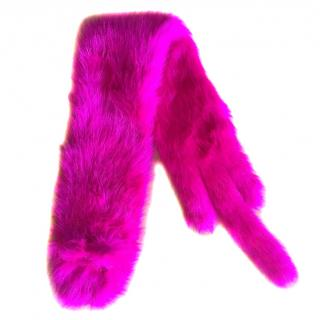 Rue faux fur scarf Pink