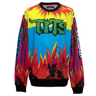 House of Holland Colourful Pattern Tits Sweatshirt