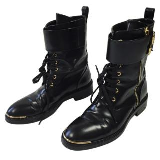 Louis Vuitton Black Biker Boots
