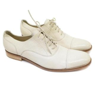 J.Lindeberg Cream Distressed Brogues