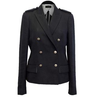Joseph Navy Double Breasted Blazer with Silver Buttons