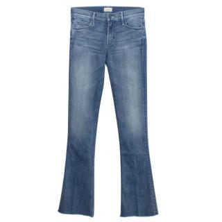 Mother Runway Frayed Blue Denim Jeans