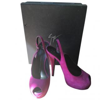 Guiseppe Zanotti fushia Pink Platform Shoes