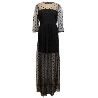 Alice by Temperley Celia Polka Dot Tulle Maxi Dress