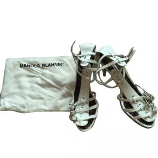 Manolo Blahnik leather sandals
