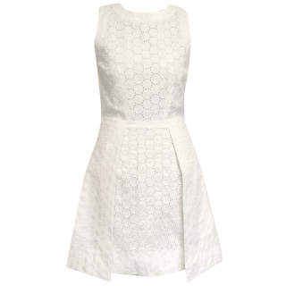 Victoria Beckham White Embroidery Anglaise Dress