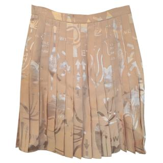 Christopher Kane nude petal pleated skirt