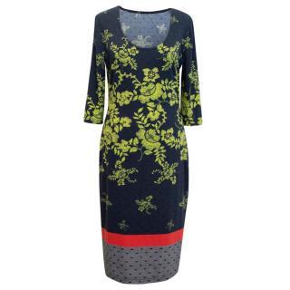 Preen Scoop Neck Floral Patterned Dress