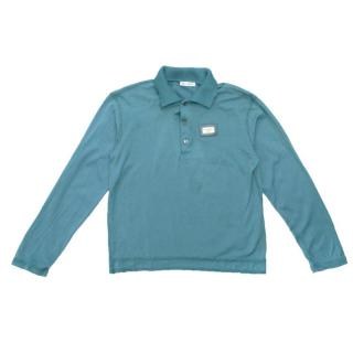 Dolce & Gabbana Blue Long Sleeved Polo Top