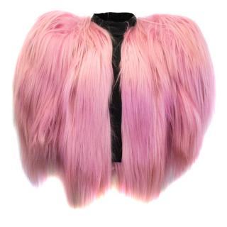 Dolce & Gabbana Pink Goatskin Special Piece Jacket