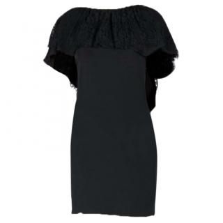 Paul & Joe Black Silk Ruffle Mini Dress