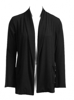 Luxe Jersey Edge to Edge Cardigan, Black, Extra Large