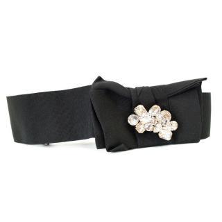 Dolce & Gabbana Crystal Embellished Black Belt