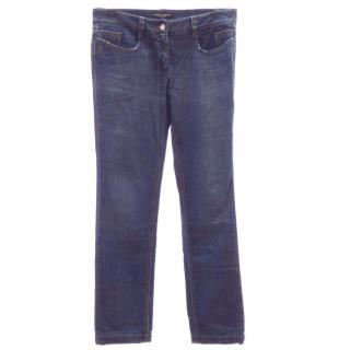 Dolce & Gabbana  Dark Blue Stretch Denim Straight Jeans