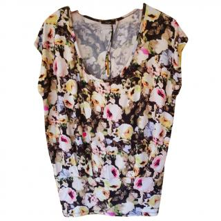 Paul Smith Jersey top, B&W floral design