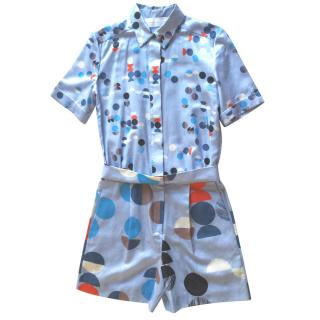 Victoria Victoria Beckham Abstract Polka Dot Print Playsuit