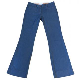 Pinko 'Barbagianni' blue kick flare jeans