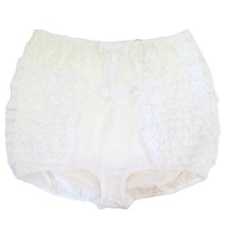 Dolce & Gabbana White Frill and Lace Briefs