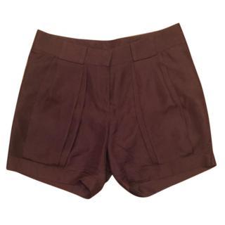 Brown silk Celine shorts