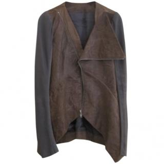 Rick Owens leather long jacket