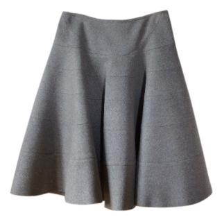 Alaia wool sculptures skirt