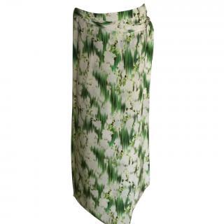 Matthew Williamson long wrap skirt