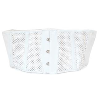 Jean Paul Gaultier White Corset Belt