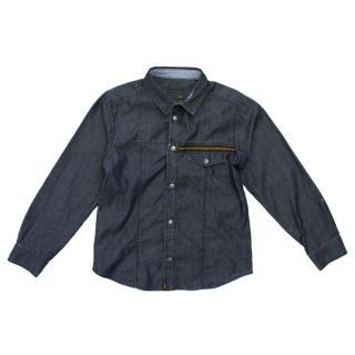 Fendi Boy's Denim Shirt