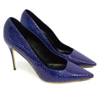 Valentino Electric Blue Python Pointed Stilettos