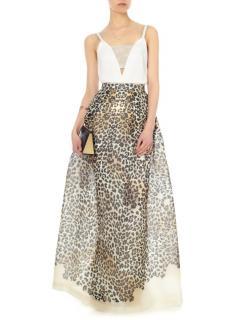 Temperly London leopard maxi skirt