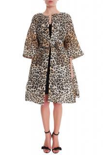 Temperly London oversized leopard coat